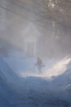 My street after the most blizzard.  Photo credit: Whitney Vieira-Wall