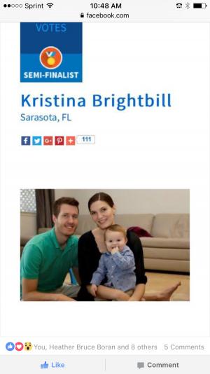 Kristina is a semifinalist!